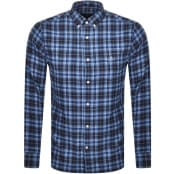 Product Image for Gant Flannel Check Regular Shirt Blue