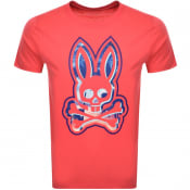 Product Image for Psycho Bunny Plockton Logo T Shirt Pink