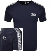 Product Image for Pretty Green X Umbro Taped Sleeve T Shirt Navy