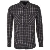 Product Image for Nudie Jeans Long Sleeved Gunnar Check Shirt Khaki