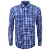 Product Image for Michael Kors Slim Fit Check Shirt Blue
