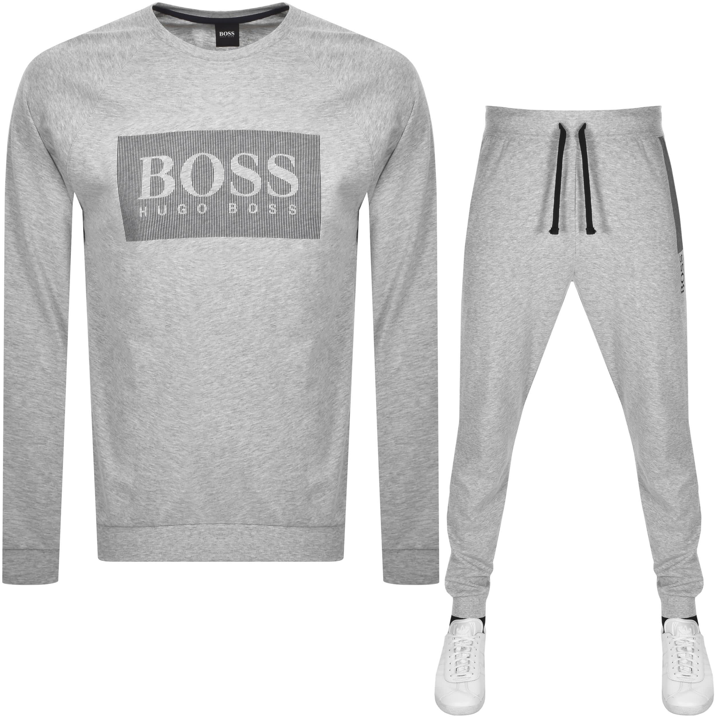 hugo boss lounge tracksuit grey