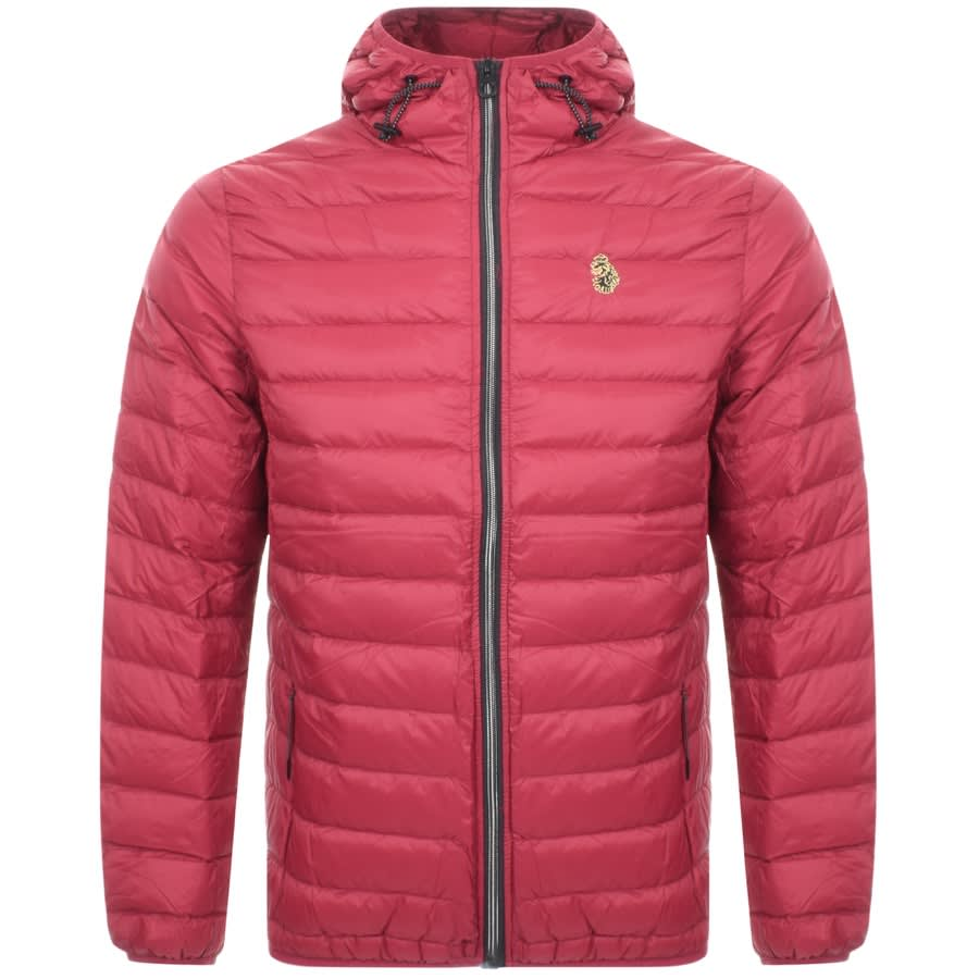 arriving cheap prices buy best Luke 1977 Quilted Hooded Jacket Red | Mainline Menswear