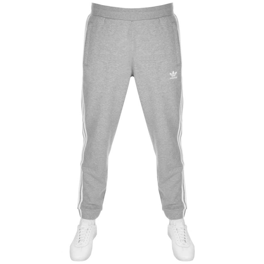 adidas Originals 3 Stripes Joggers Grey | Mainline Menswear