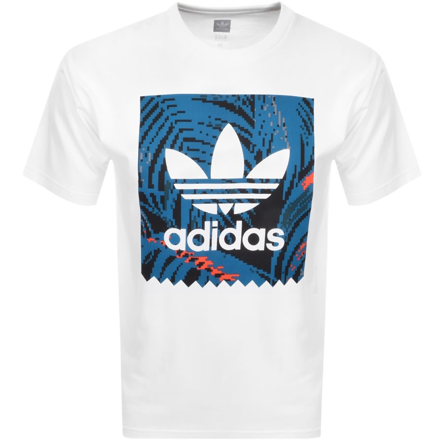 low price promo codes 50% off adidas Originals Trefoil T Shirt White | Mainline Menswear
