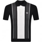 Product Image for Fred Perry Short Sleeve Knit Polo T Shirt Black
