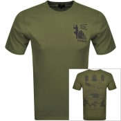 Product Image for Edwin Shinobii Logo Short Sleeve T Shirt Green