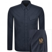 Product Image for Belstaff Long Sleeved Pitch Shirt Navy