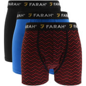 Product Image for Farah Vintage Jordi 3 Pack Boxer Shorts Black