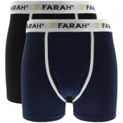 Product Image for Farah Vintage Lundy 2 Pack Boxer Shorts Black