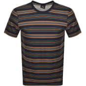 Product Image for PS By Paul Smith Regular Fit Stripe T Shirt Navy