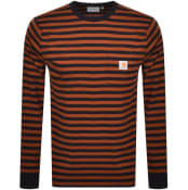Product Image for Carhartt Stripe Pocket Long Sleeved T Shirt Black