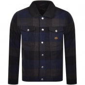 Product Image for Superdry Check Sherpa Trucker Jacket Navy