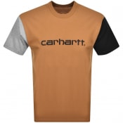 Product Image for Carhartt Tricol Logo T Shirt Brown
