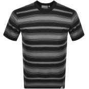 Product Image for Carhartt Buren Stripe T Shirt Black