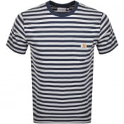 Product Image for Carhartt Stripe Pocket T Shirt Navy
