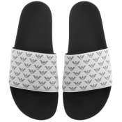 Product Image for Emporio Armani Logo Sliders White