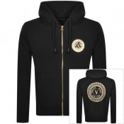 Product Image for Versace Jeans Couture Full Zip Medal Hoodie Black
