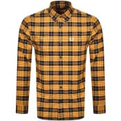 Product Image for Fred Perry Tartan Long Sleeved Shirt Orange