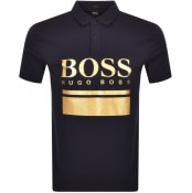 Product Image for BOSS Pavel Logo Polo T Shirt Navy