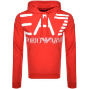 Product Image for EA7 Emporio Armani Logo Hoodie Red