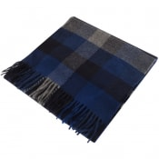 Product Image for Gant Twill Checked Wool Scarf Blue