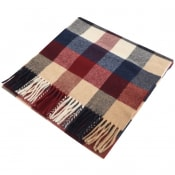 Product Image for Gant Twill Checked Wool Scarf Burgundy