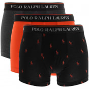 Product Image for Ralph Lauren Underwear 3 Pack Boxer Trunks Orange
