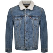 Product Image for Levis Sherpa Trucker Denim Jacket Blue