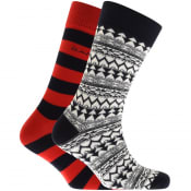 Product Image for Gant Two Pack Socks Gift Set Red