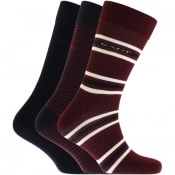 Product Image for Gant Three Pack Mixed Socks Burgundy