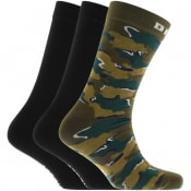 Product Image for Diesel RAY Three Pack Socks Green