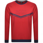 Product Image for BOSS Bodywear Lounge Crew Neck Sweatshirt Red