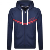 Product Image for BOSS Bodywear Lounge Full Zip Hoodie Navy
