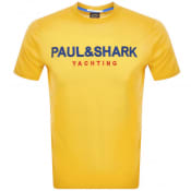 Product Image for Paul And Shark Logo T Shirt Yellow