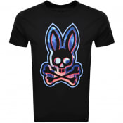 Product Image for Psycho Bunny Plockton Logo T Shirt Black