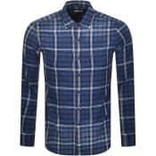 Product Image for Replay Long Sleeved Checked Shirt Blue