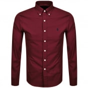 Product Image for Ralph Lauren Long Sleeved Slim Fit Shirt Burgundy