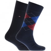 Product Image for Tommy Hilfiger 2 Pack Check Socks Navy