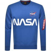 Product Image for Alpha Industries Nasa Reflective Sweatshirt Blue