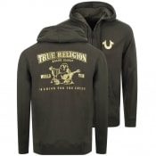 Product Image for True Religion Double Puff Full Zip Hoodie Green