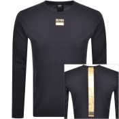Product Image for BOSS Togn 2 Long Sleeved T Shirt Navy
