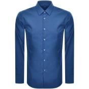 Product Image for BOSS Isko Slim Fit Long Sleeve Shirt Navy