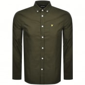 Product Image for Lyle And Scott Oxford Long Sleeve Shirt Khaki