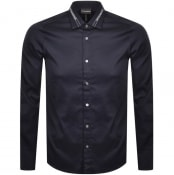 Product Image for Emporio Armani Slim Fit Long Sleeve Shirt Navy