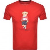 Product Image for Ralph Lauren Crew Neck Bear T Shirt Red