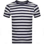 Product Image for Farah Vintage Belgrove Stripe T Shirt Navy