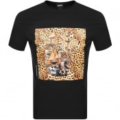 Product Image for Just Cavalli Leopard Logo T Shirt Black
