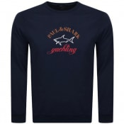 Product Image for Paul And Shark Crew Neck Logo Sweatshirt Navy