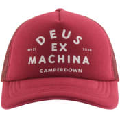Product Image for Deus Ex Machina Camperdown Logo Trucker Cap Red